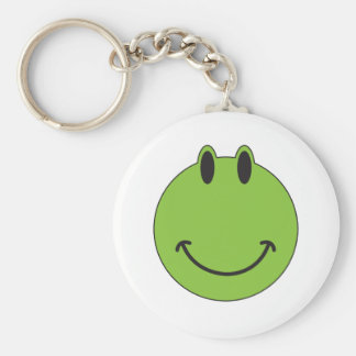 Smiley Face Frog Keychain