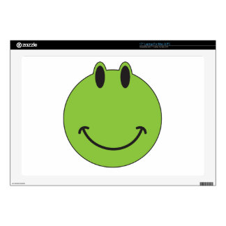 Smiley Face Frog Laptop Decals