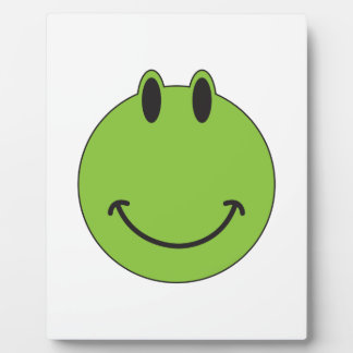 Smiley Face Frog Plaque