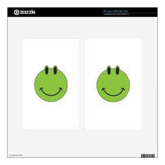 Smiley Face Frog Skins For Kindle Fire