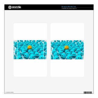 Smiley Face fun Image Skins For Kindle Fire