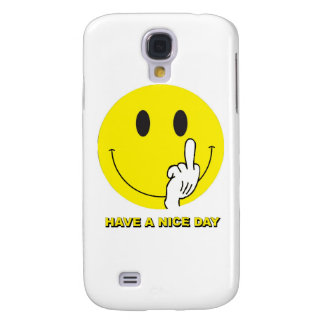 smiley face giving the finger galaxy s4 cases