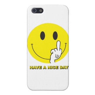 smiley face giving the finger iPhone 5 cover