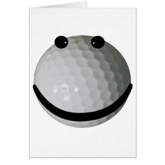 Smiley face golf ball card