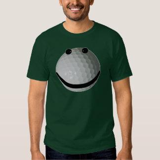 Smiley face golf ball tee shirt