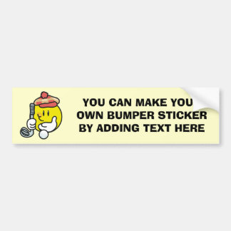 Smiley Face Golf T-shirts and Gifts Bumper Sticker