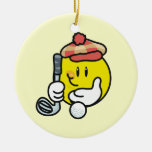 Smiley Face Golf T-shirts and Gifts Ornament