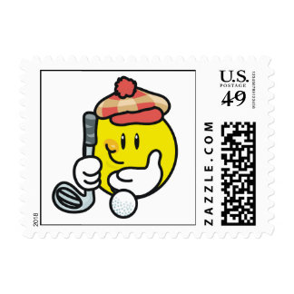 Smiley Face Golf T-shirts and Gifts Postage Stamps