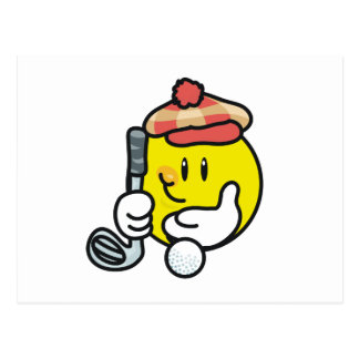 Smiley Face Golf T-shirts and Gifts Postcard