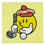 Smiley Face Golf T-shirts and Gifts Poster