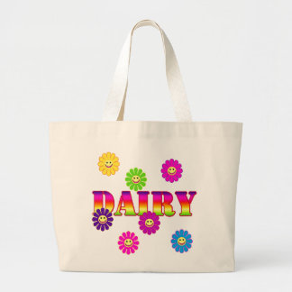Smiley Face GROCERY DAIRY TOTE Canvas Bags