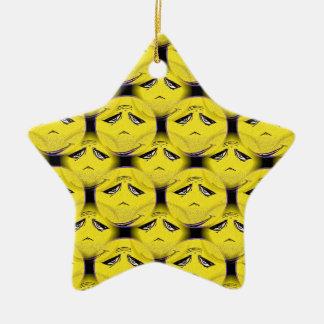 Smiley Face Guru Chorus Ceramic Star Decoration