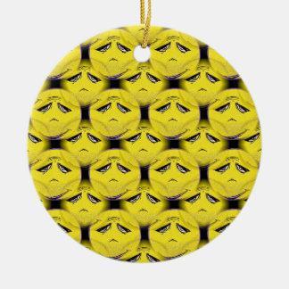 Smiley Face Guru Chorus Round Ceramic Decoration