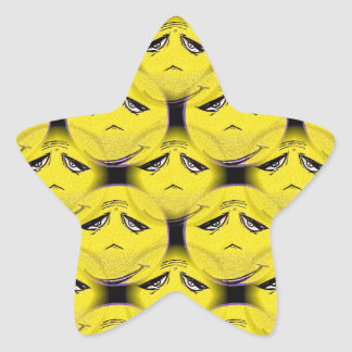 Smiley Face Guru Chorus Star Sticker
