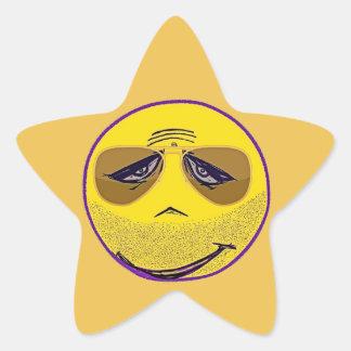 Smiley Face Guru Cool Star Sticker
