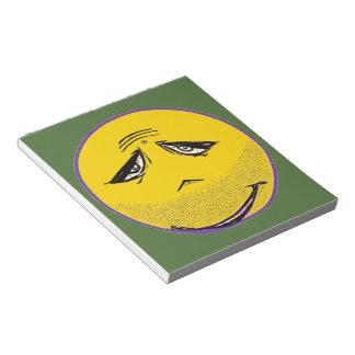 Smiley Face Guru Note Pad