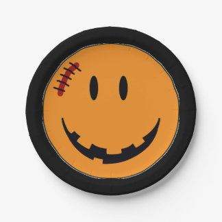 Smiley Face Halloween Style ID224 Paper Plate