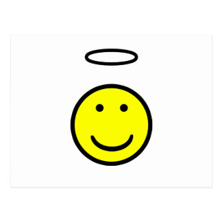 Smiley Face Halo Postcard