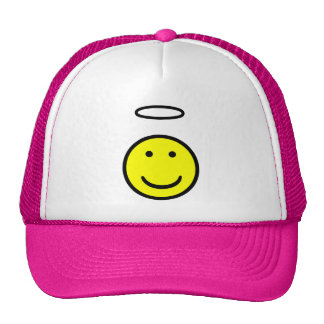 Smiley Face Halo Trucker Hat