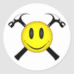 Smiley Face Hammers Stickers