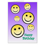 Smiley Face Happy Birthday Cards