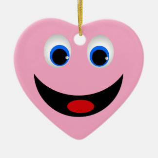 SMILEY FACE HEART ORNAMENT