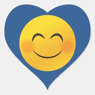 Smiley face heart sticker