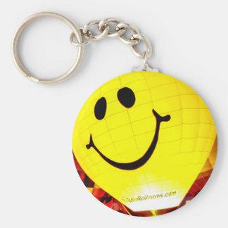 Smiley Face Hot Air Balloon Key Chain