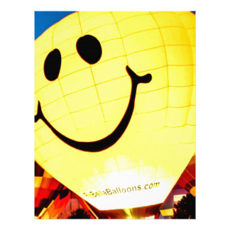 Smiley Face Hot Air Balloon Personalized Letterhead