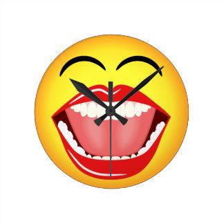 Smiley Face Humor Medium Funny Round Wall Clock