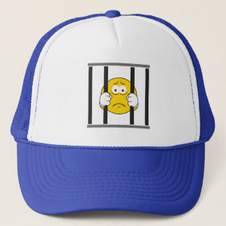 Smiley Face in Jail Trucker Hat