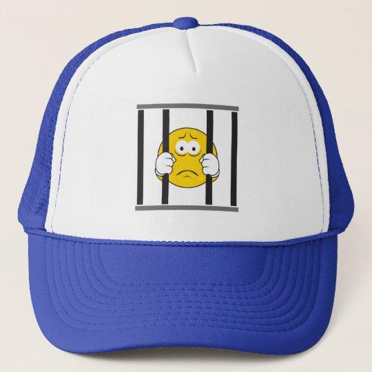 Smiley Face in Jail Trucker Hat