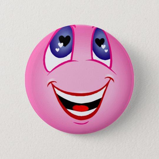 Smiley Face In Love Pin