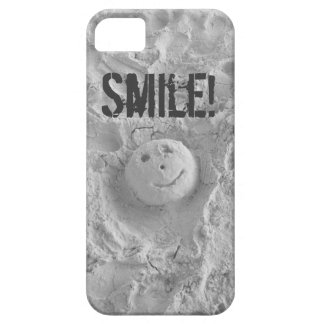Smiley Face in the Sand iPhone Case