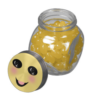smiley face jelly belly candy jars