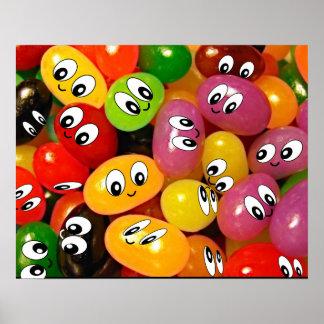 smiley face jellybeans print