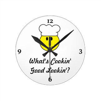 Smiley Face Kitchen Clock Flirt