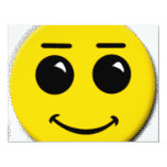 "smiley-face-large 4.25"" x 5.5"" invitation card"