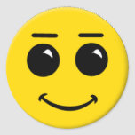 smiley-face-large round sticker