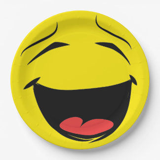Smiley Face Laughing Emoticon Birthday Party Paper Plate