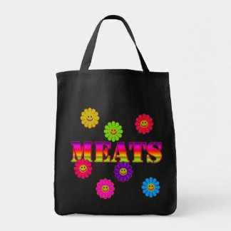 Smiley Face MEATS Grocery Tote Bags