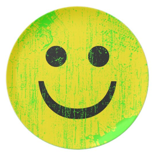 Smiley Face Melamine Plate