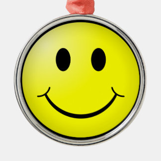 Smiley Face Metal Ornament