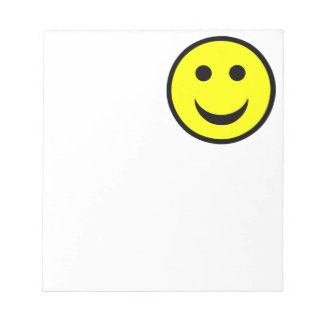 Smiley face memo note pad