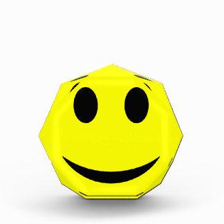 Smiley Face Octagonal Award