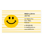 Smiley Face on sunny yellow stripes Business Cards