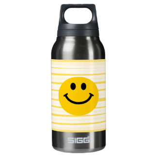 Smiley Face on sunny yellow stripes SIGG Thermo 0.3L Insulated Bottle