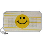 Smiley Face on sunny yellow stripes Speaker System