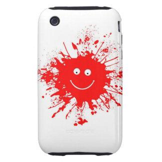 Smiley Face Paint Splash Tough iPhone 3 Cover