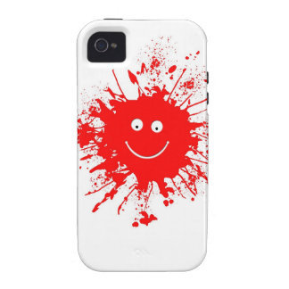 Smiley Face Paint Splash iPhone 4/4S Cover